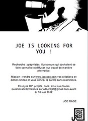 Joe Rage is looking for you! (Snap Girl) Tags: opportunity design graphic wanted job graphicdesigner graphistes illustrateurs joerage
