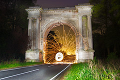 Back to my roots (1) (vikwaters) Tags: light lightpainting wool painting arch steel spin lincolnshire lp brocklesby woolspin