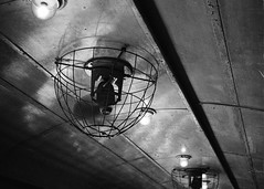Old fan (SpaceMars) Tags: old railroad summer blackandwhite bw hot rural train hongkong fan coach cool diesel rail ceiling whip inside stir breeze taipo monochome stimulate arouse