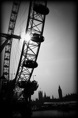 [black eye] (RHiNO NEAL) Tags: bw london eye holga rhino vignette neal rhinoneal