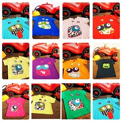 Lokas Camisetas de EL RINCN DE TEO!!! (elrincondeteo) Tags: baby monster kids children clothing toddler nios cotton bebe tshirts patch patchwor