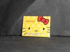 sticker (hello kitty sunshine) (mikaplexus) Tags: flowers red summer hk flower art yellow toy toys sticker hellokitty stickers yay collection collections tiny stick ribbon collectible collect collecting artstuff slaps stickercollection