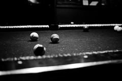 JDA_1153 (mikedarrach) Tags: bw white pool sticks balls blach