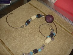 Elegant necklace with tagua beads