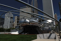 Pritzker Music Pavilion in Millennium Park, Chicago, Illinois (Mastery of Maps) Tags: park city urban chicago architecture publicspace buildings illinois downtown cityscape place skyscrapers central chitown il grantpark tall publicart millenniumpark theloop chicagoloop greatlawn highrises centralbusinessdistrict windycity pritzkerpavilion jaypritzkerpavilion publicplace downtownloop