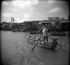Vietnam (Etienne Despois) Tags: travel bw square holga vietnam cantho travelplanet
