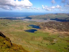 Cregennen Lakes and Barmouth from Tyrrau Mawr
