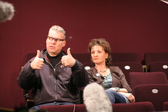 Mark-and-Linda-in-Mareel (Shetland Arts) Tags: london film festival williams theatre mark watch arts linda ruth launch southampton runner shetland hansel garrison 2012 kermode