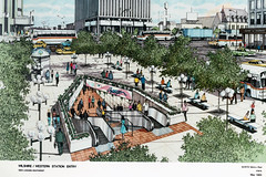 Wilshire/Western Station Entry (Metro Transportation Library and Archive) Tags: renderings rtd scrtd southerncaliforniarapidtransitdistrict