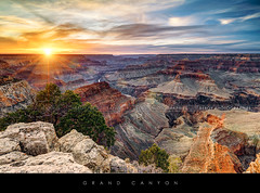 Grand Canyon sunset (Beboy_photographies) Tags: sunset arizona panorama usa de soleil coucher grand canyon bleu ciel nuage nuages hdr coucherdesoleil panoramique tatsunis