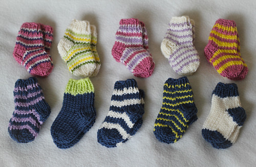 Ravelry Newborn Knitted Socks Pattern By Bunny Mama
