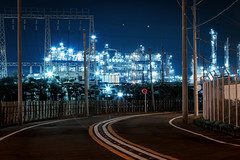 Welcome to Machine City (arcreyes [-ratamahatta-]) Tags: industry japan night landscape machine clear  bluehour industrialpark kawasaki     facotry kanagawaprefecture ukishima  agustinrafaelreyes