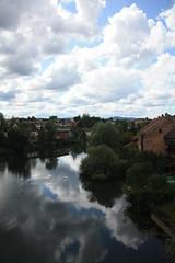 Cielo Sloveno (simo884) Tags: summer river restaurant holidays estate fiume slovenia tables fiore ristorante vacanze tavoli 2011 novomesto