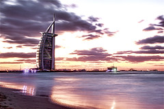 burj al arab - dubai (Emmanuel Catteau photography) Tags: travel sea tourism beach beautiful night stars wonder hotel site al amazing holidays dubai photographer gulf top united reporter landmark east emirates national mohammed arab seven planet conde lonely middle geo luxury sheikh geographic nast visionary burj traveler maktoum catteau wwwemmanuelcatteaucom