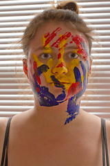 Identity (Madison Rich) Tags: blue red portrait love me colors yellow self maddie friend paint friendship
