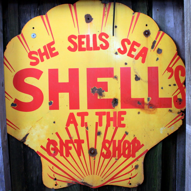 She Sells Sea SHELL's at the gift shop