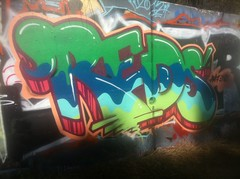 Yeap... (missREDS_AM7) Tags: red graffiti paint spraypaint graff piece reds 004 dmt am7 lagraffiti missred amseven fewandfar missreds