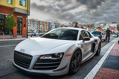 Matte White R8 GT. | Explore | (AESDUB) Tags: white nikon san downtown awesome police diego gt audi matte arrest r8 d5100