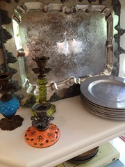 "I love grouping pretty things...even this weathered silver tray • <a style=""font-size:0.8em;"" href=""http://www.flickr.com/photos/79686536@N02/7310264700/"" target=""_blank"">View on Flickr</a>"