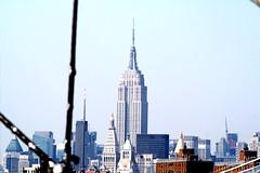 The Empire State Building from the Brooklyn Bridge (chrisinphilly5448) Tags: city nyc newyorkcity bridge urban newyork brooklyn manhattan landmark eastriver nyny gotham newyorknewyork lowermanhattan thebigapple newyorkcitylandmarkspreservationcommission nyclpc