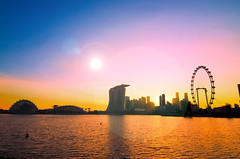 Singapore Cityscape in silhouette (Wang Guowen (gw.wang)) Tags: singapore