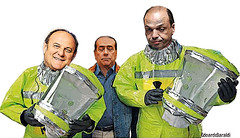 THE MONEY DROP (edoardo.baraldi) Tags: premier berlusconi alfano gerryscotti pazzaidea italiapulita antigrillo