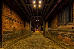 Unter dem Kibbelsteg (KLX-650) Tags: longexposure night germany deutschland nacht harbour hamburg architektur speicherstadt nachtaufnahme hafencity blauestunde kibbelsteg