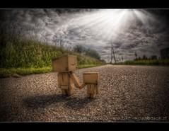 the long road ahead 160/366 (Bertus van de Vorstenbosch Photography) Tags: world 2 canon project eos big mark small figure 5d minifigure danbo 366 cartboard revoltech project366 danboard wwwbvdvorstenboschnl