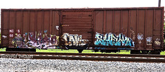 Enks Laws x RTD  -  Shek (INTREPID IMAGES) Tags: street railroad abstract color art train bench graffiti fan paint steel painted graf tracks rail railway trains tags images railcar intrepid writer boxcar shek graff grab railfan freight rolling laws tko gr8 paintedtrains fr8 railbox benching syw paintedsteel railer enks intrepidimages