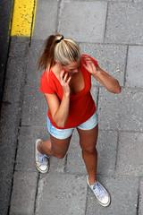 From Above (josephzohn | flickr) Tags: girls people fromabove rtt tjejer mnniskor jeansshorts uppifrn brahegatan