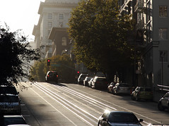 Afternoon light on California Street, San Francisco, Ca. USA (Ministry) Tags: sanfrancisco california ca street usa building tree car hotel chinatown traffic trolley district grant tram rail line cablecar fireescape avenue financial stockton fairmont nobhill