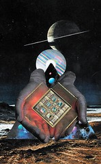 death under saturn (Cerebral Lust) Tags: moon abstract reflection art texture death artwork hands cd space beam disk tarot planet chip planets layers saturn cpu disc cupping compact cerebralust cerebrallust growingtropics