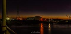 Torrens Island Boat Yards, (johnwilliamson4) Tags: longexposure sunset orange night industrial australia adelaide southaustralia portriver torrensisland boatyyards