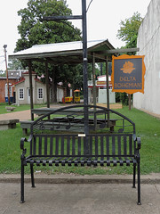 Clarksdale - Bench (Drriss & Marrionn) Tags: street city houses usa house building architecture facade corner buildings mississippi bench outdoor streetlife streetscene streetviews clarksdale