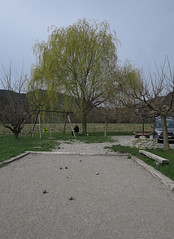 playing boules (squeezemonkey) Tags: france tree court garden swings boules gravel orpierre gtesetchambresdhteslemoulin