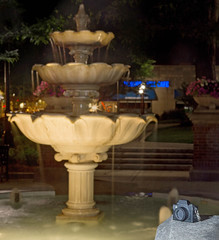 05/29/2016: Kwanon Lights the Fountain (Painting with Dawn's Light) Tags: longexposure nightphotography fountain canon downtown kodak citylife cameras paintingwithlight photographicart suburbanlife townsquare pictureinpicture photooftheday lagrange kwanon 2016 vollenda 365dayphotochallenge 366dayphotoproject photographerhumor