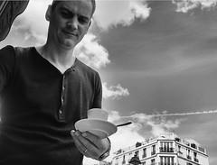 DSCF1516 (sergedignazio) Tags: street paris france caf photography fuji photographie terrasse rue homme x100s