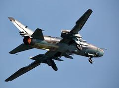 SU-22 Fitter (Bernie Condon) Tags: uk tattoo plane flying display aircraft aviation military attack jet poland airshow strike bomber warplane airfield ffd fairford riat fitter sukhoi raffairford airtattoo su22 riat14