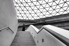 Architecture (Michael Adedokun) Tags: uk blackandwhite building london architecture stairs person patterns angles stairway architects