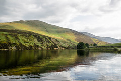 Lochs and Hills (Jean I Cresol) Tags: uk sky lake water landscape scotland spring unitedkingdom may hills loch hillside 15th hdr pentlands 2016 thepentlands
