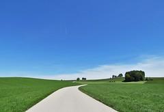 Adrian Vesa Photography (adr.vesa) Tags: road panorama green field germany way bayern bavaria landscapes path minimal hills endless infinit