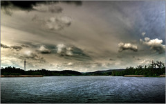 My experiments with art photography on Lake Big Bor (piontrhouseselski) Tags: lake water clouds pond cz moravia