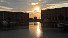 Albert Dock Sunset (johnethurgood) Tags: albertdock liverpool boats sunset landscape warehouses