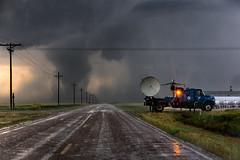 Tornado Intercept (ryanmcginnisphoto) Tags: sky storm hail clouds danger rural highway extreme kansas whoa tornado radar doppler severeweather stormchaser stormchase
