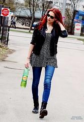 walk on the wild side (dieter michalek) Tags: girl ginger model pretty legs boots outdoor femme young denim sunglases fotografia redhair beautyful dietermichalek