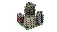 Section DownTown Edge 1 back (RedRoofArt) Tags: lego moc mini pico pica city building architecture flat micro