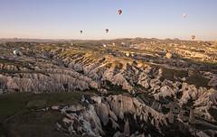 Hot Air Balloons over Rose Valley (tclemitson) Tags: turkey hotairballoon cappadocia goreme kapadokya rosevalley kapadokyaballoons