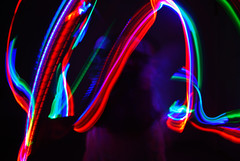 (JayRose05) Tags: blue red portrait abstract color green colors girl bulb self lights nikon colorful open slow artistic ghost moi slowshutter shutter mode ghosting
