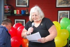 """Jo Pine reading some of the names of the Orlando victims • <a style=""""font-size:0.8em;"""" href=""""http://www.flickr.com/photos/66700933@N06/27678427761/"""" target=""""_blank"""">View on Flickr</a>"""