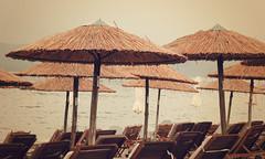 Umbrellas (Argyro...) Tags: beach umbrella seaside greece chalcis   alykesdrossias